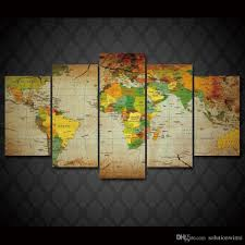 Vintage World Map Canvas by 2017 Framed Hd Printed Old World Map Wall Art Canvas Print Poster