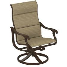 Patio Chair Sling Ravello Padded Sling Swivel Patio Chair By Tropitone