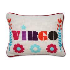 virgo zodiac needlepoint throw pillow 9 x 12 jonathan adler