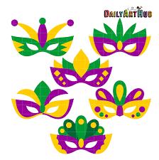 madi gras mask mardi gras masks clip set daily hub