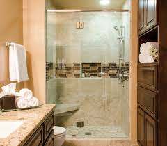 modern bathroom shower idea with frosted glass inside small guest