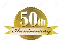 fiftieth anniversary 50th anniversary seal royalty free cliparts vectors and stock