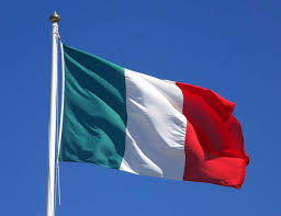 Flag Red With White Cross Green White And Red The 220th Anniversary Of The Italian Flag