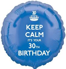 30th birthday balloons delivered keep calm 30th birthday balloon delivered inflated in uk