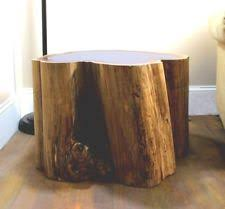 tree trunk end table tree trunk table ebay