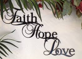 Religious Wall Decor Scripture Art Christian Wall Art Faith Hope Love Wall Decor