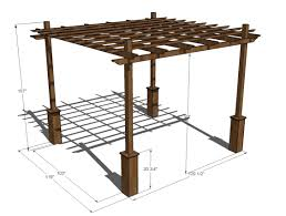 pergola amazing cedar pergola plans attached cedar pergola via