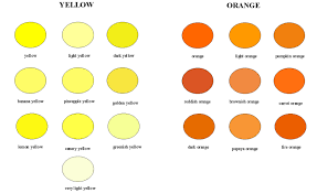 shades of orange names yellow orange color names dayri me