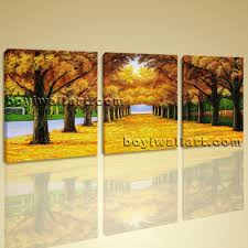 canvas print wall art autumn fall park tree contemporary home