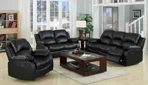 Elegant Style With Black Leather Living Room Furniture Designs - Big lots living room furniture