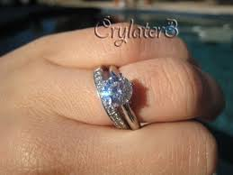 Engagement Ring With Wedding Band by Post Photos Only Of Your Engagement Wedding Ring S Here Purseforum