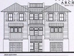03425 7 townhouse house plan design from allison elevation plans