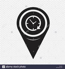 Map Pin Map Pin Pointer 24 Hour Clock Icon Stock Vector Art U0026 Illustration