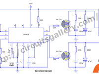 12v to 230v inverter circuit schematic using pulse width modulator