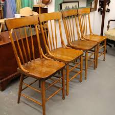 found in ithaca four matching antique oak u0026 tiger maple chairs