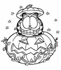 halloween halloween pages garfield coloring kidsable free