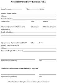 generic incident report template sle employee incident reports small business free forms