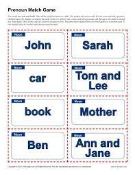 pronoun match game pronoun agreement worksheets
