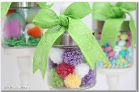 Easter Decorations Using Mason Jars by Easter Apothecary Jars