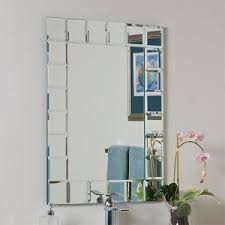 Beveled Bathroom Mirrors Modern Rectangular Beveled Bathroom Mirror Decor