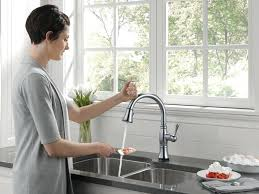 touch faucets for kitchen breathtaking touch faucet kitchen no touch kitchen faucets on