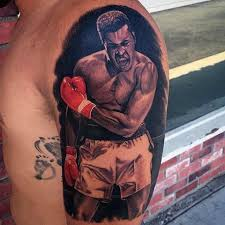 50 muhammad ali tattoo designs for men boxing champion ink ideas