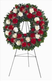 flowers for funeral white carnation wreath san francisco funeral flowers colma
