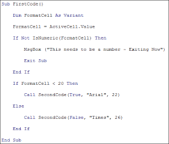 excel vba programming passing values to a subroutine