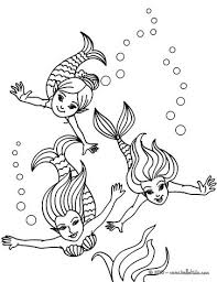 mermaid couple coloring pages hellokids