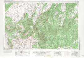 Arizona Map Of Cities by Cedar City Topographic Maps Ut Usgs Topo Quad 37112a1 At 1
