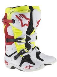motocross boot repair alpinestars white red neon tech 10 mx boot alpinestars