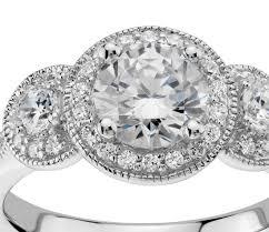 what is milgrain 1 2 ct tw three milgrain halo diamond engagement ring in