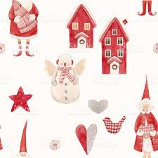 nice watercolor christmas vector pattern stock vector art