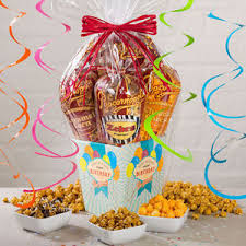 Gift Baskets Free Shipping Popcornopolis Gourmet Popcorn 5cone Birthday Gift Basket Free