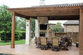 Outdoor Kitchen Covered Patio Backyard Covered Patios Houston Home Outdoor Decoration