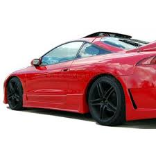mitsubishi eclipse ait racing buddy club 2 style side skirts mitsubishi eclipse