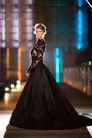high neck long sleeve black lace dress u0026 oscar fashion review