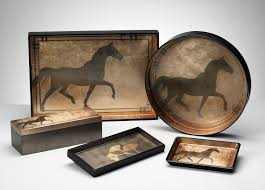 unique gifts equestrian gifts luxury serving trays handmade