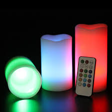 Electric Candles For Windows Decor Decorating Mooncandles 3 Wax Color Changing Flameless Candles