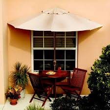 Half Umbrella Patio Half Circle Umbrella Table And Chairs The Green