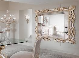 luxury large decorative wall mirror for white dining room