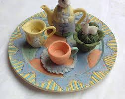 bunny tea set bunny tea set etsy