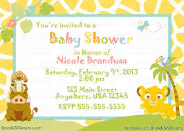 Elegant Baby Shower Ideas by Lion King Baby Shower Invitations Blueklip Com