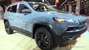 jeep blue interior 2015 jeep cherokee trailhawk exterior and interior walkaround