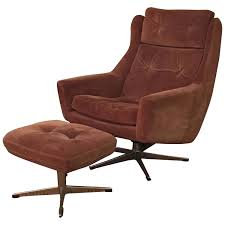 Scandinavian Design Armchair Scandinavian Modern Reclining Leather Lounge Chair With Ottoman