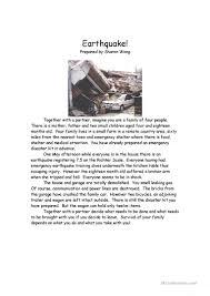 14 free esl earthquake worksheets
