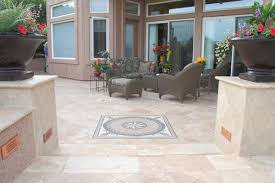 Backyard Patio Stones Stone Travertine Flagstone Patio Pavers Phoenix Landscaping
