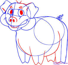 how to draw a cartoon pig step by step cartoon animals animals