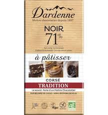 pour cuisiner tradition chocolat noir 71 pour cuisiner 200g chocolat dardenne