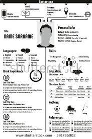 Vita Resume Template Curriculum Vitae Resume Template Stock Vector 600439679 Shutterstock